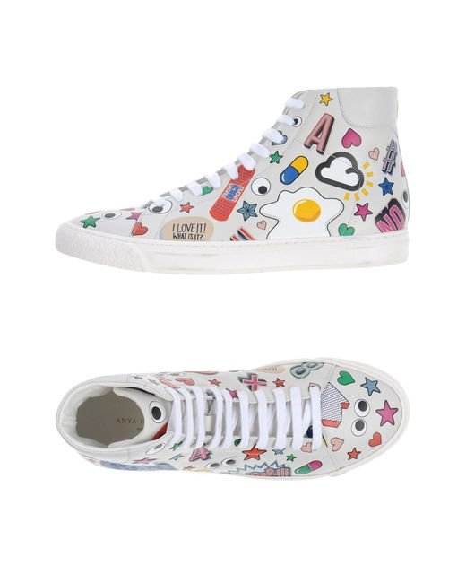 Anya Hindmarch - White High-tops & Sneakers - Lyst
