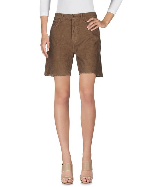 TRUE NYC - Natural Bermuda Shorts - Lyst