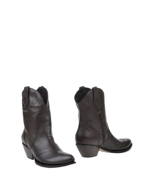 Emanuela Passeri - Brown Ankle Boots - Lyst