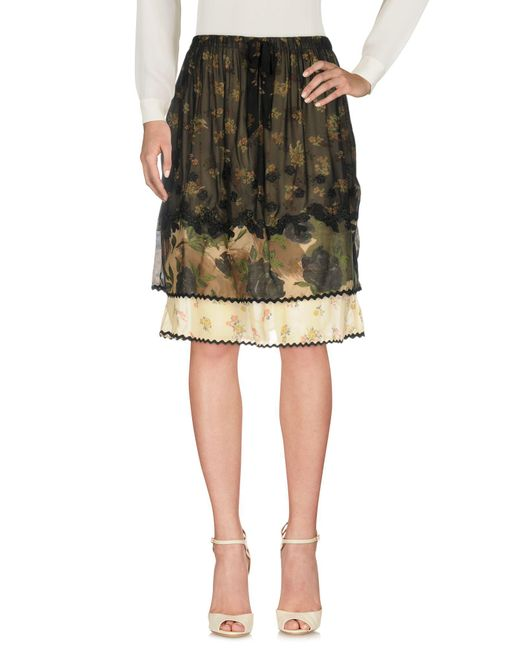 COACH - Black Knee Length Skirt - Lyst
