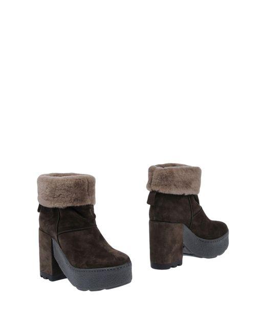 Vic Matié - Brown Ankle Boots - Lyst