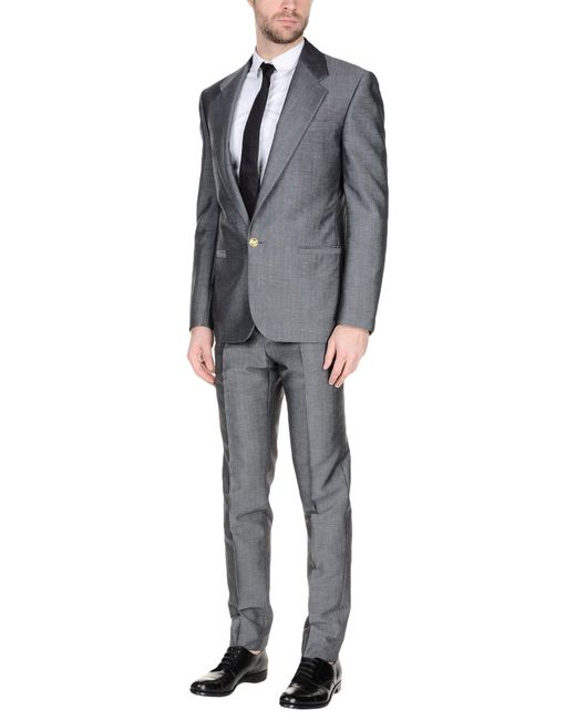 Versace Suit In Gray For Men