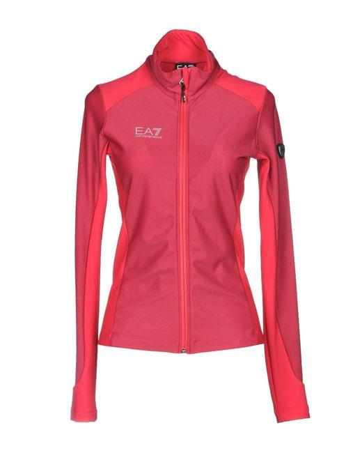 EA7 - Red Sweatshirt - Lyst