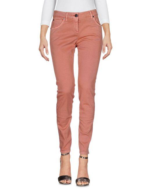 Brunello Cucinelli - Pink Denim Trousers - Lyst