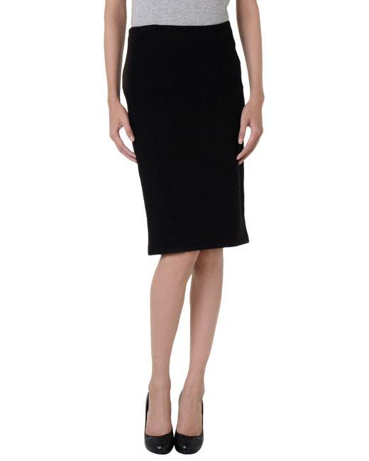 Armani - Black 3/4 Length Skirt - Lyst