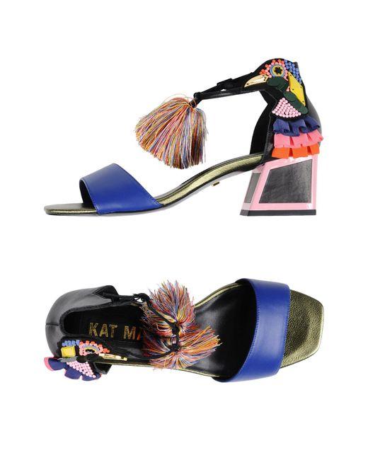 Kat Maconie - Blue Sandals - Lyst