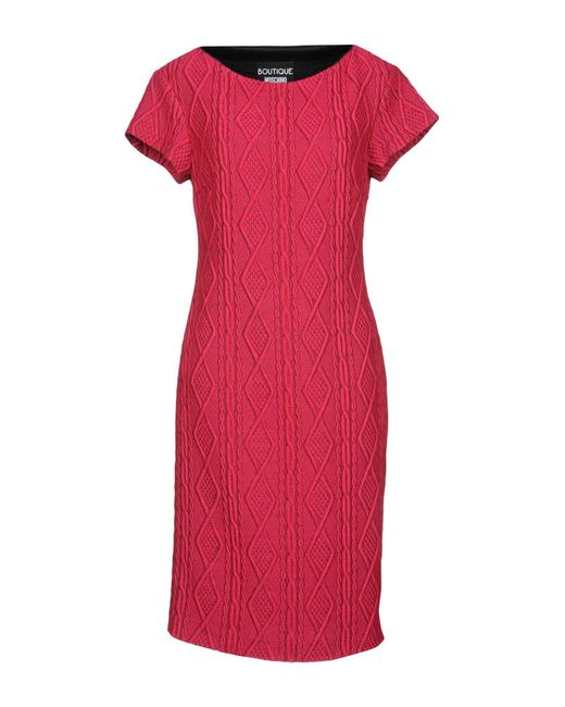 Boutique Moschino - Pink Knee-length Dresses - Lyst
