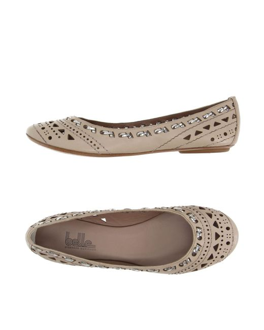 Belle By Sigerson Morrison - Natural Ballet Flats - Lyst