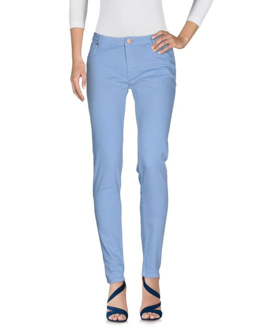 Victoria Beckham | Blue Denim Pants | Lyst