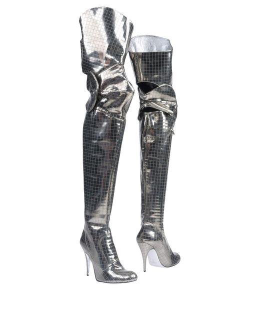 Vivienne Westwood   Metallic Boots   Lyst