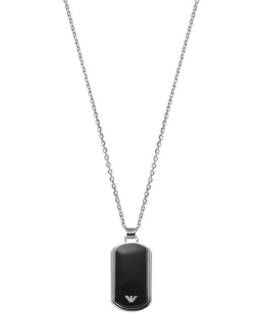 Emporio Armani   Black Necklace for Men   Lyst