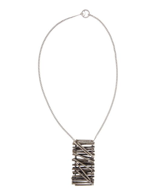 Maison Margiela | Metallic Pendant Necklace for Men | Lyst