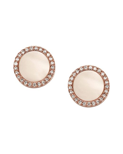 Fossil | Pink Earrings | Lyst