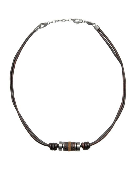 Fossil | Brown Necklace for Men | Lyst