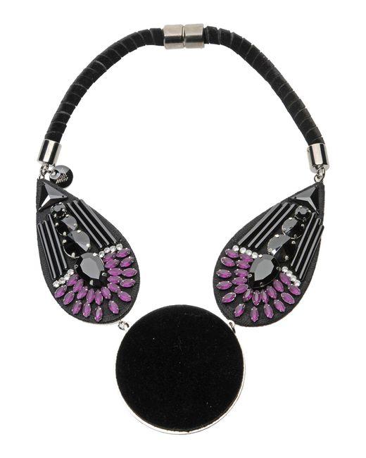 Emporio Armani   Black Necklace   Lyst