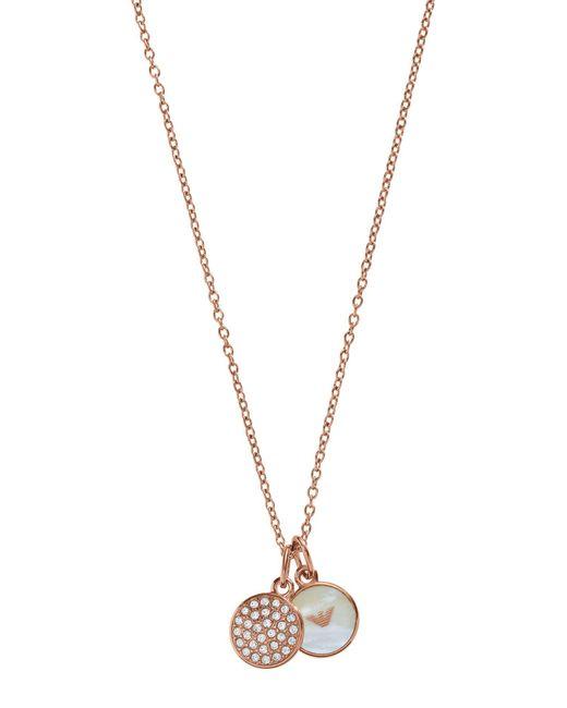 Emporio Armani | Metallic Necklace | Lyst
