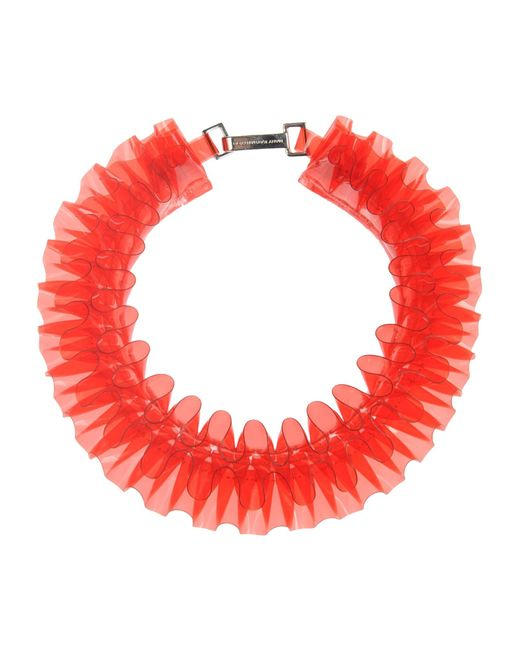 Mary Katrantzou | Red Pvc Ruffle Collar Necklace | Lyst