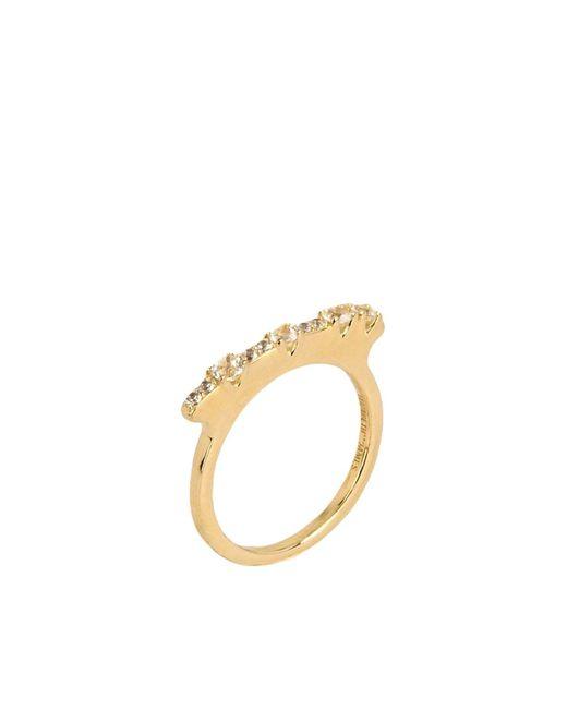 Elizabeth and James   Metallic Ring   Lyst