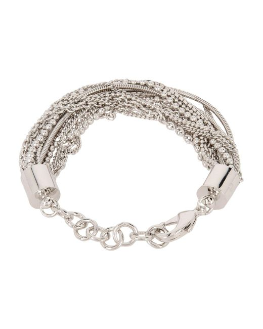 MM6 by Maison Martin Margiela | Metallic Bracelet | Lyst