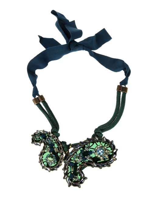 Lanvin | Green Necklace | Lyst