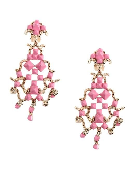 Valentino | Pink Earrings | Lyst