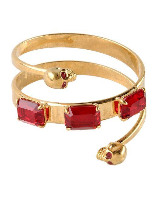 Alexander McQueen | Red Bracelet | Lyst