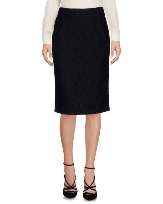 Frankie Morello - Black Knee Length Skirt - Lyst