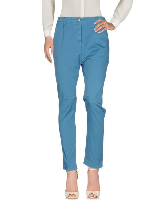 Novemb3r - Blue Casual Pants - Lyst