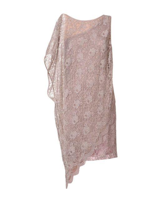 Carlo Pignatelli Brown Knee-length Dress