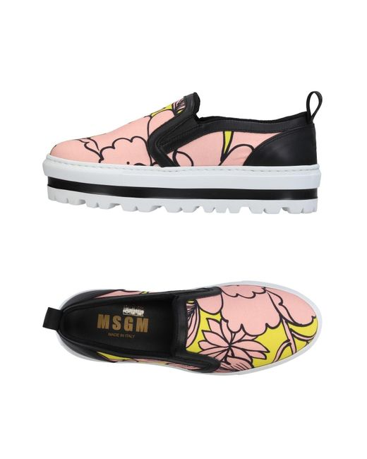 MSGM - Pink Low-tops & Sneakers - Lyst