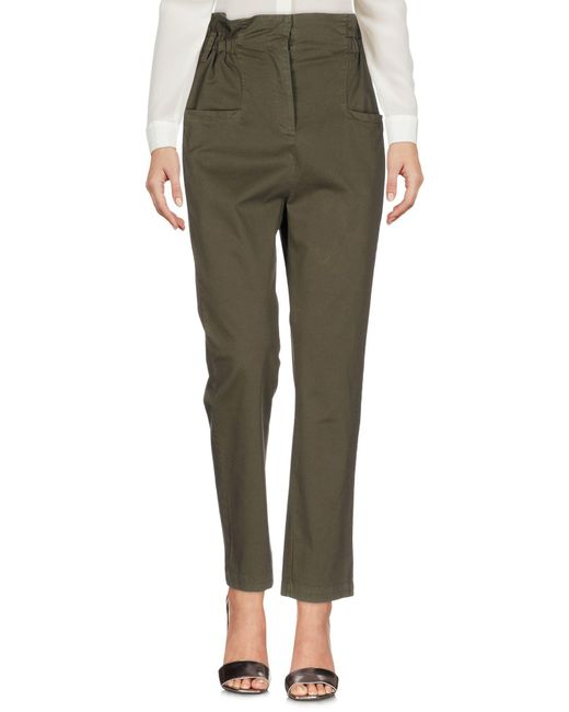 Fairly - Green Casual Trouser - Lyst