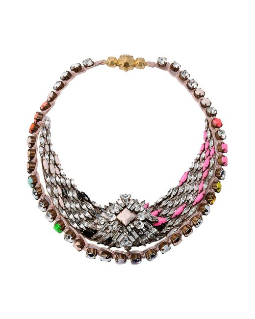 Shourouk - Pink Necklaces - Lyst