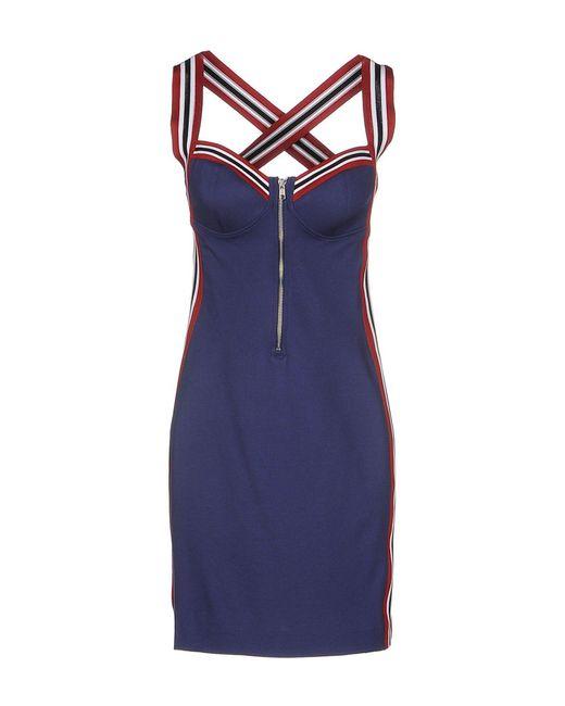 Love Moschino | Blue Short Dress | Lyst