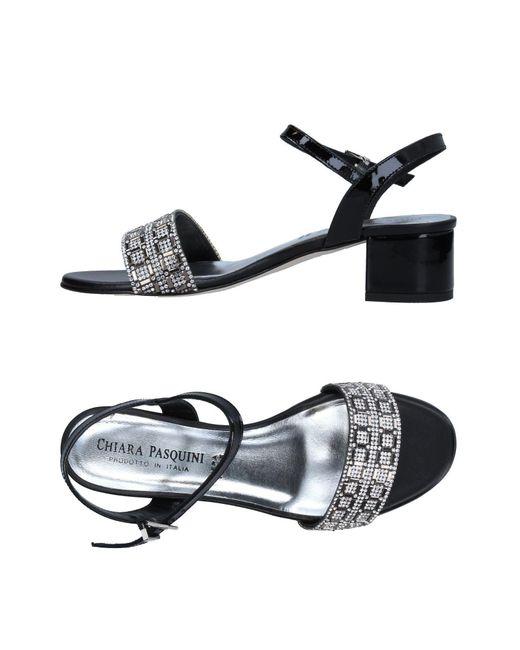 Chiara Pasquini | Black Sandals | Lyst