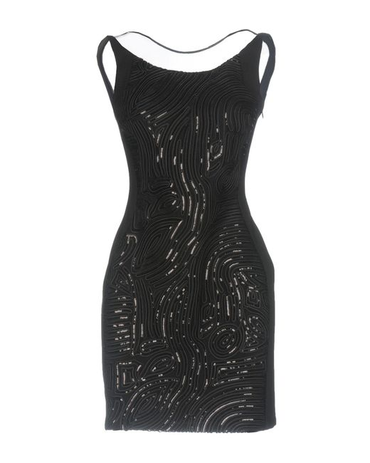 Frankie Morello - Black Short Dress - Lyst