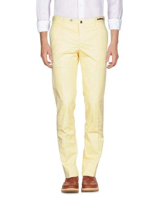 PT01 - Yellow Casual Pants for Men - Lyst