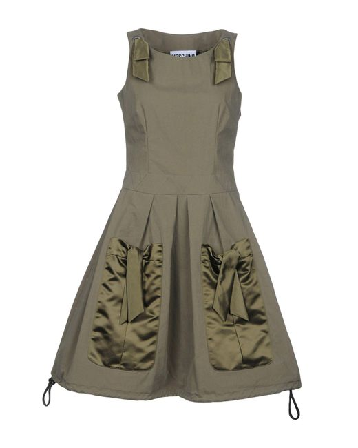 Moschino - Green Short Dress - Lyst