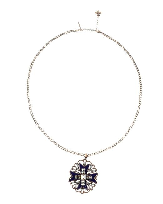 Alberta Ferretti - Blue Necklace - Lyst