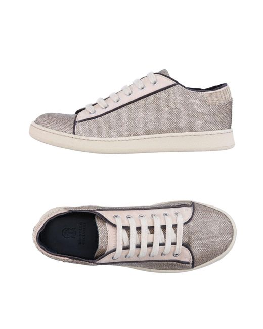 Brunello Cucinelli | Natural Low-tops & Sneakers | Lyst