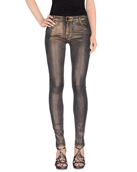 75 Faubourg - Metallic Denim Trousers for Men - Lyst