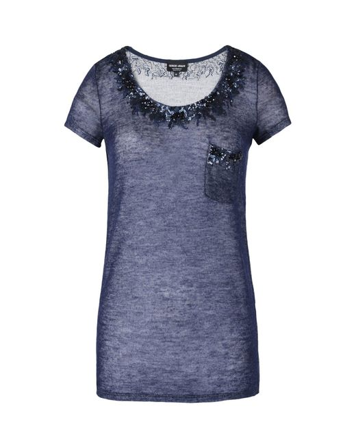 Giorgio Armani - Blue Sweaters - Lyst