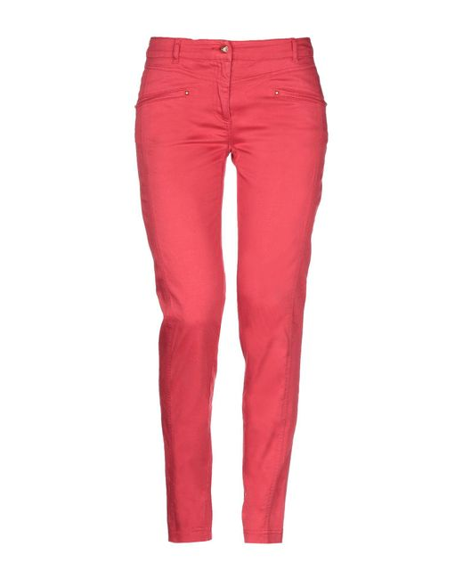 Class Roberto Cavalli Red Casual Pants