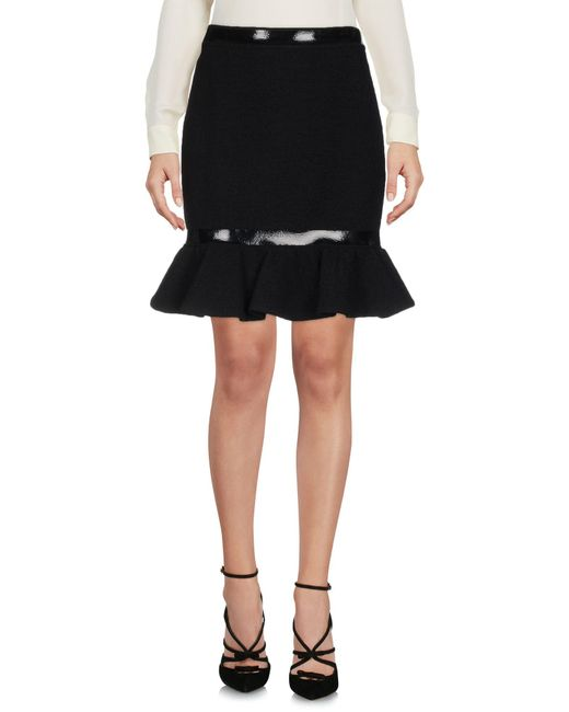 Moschino - Black Knee Length Skirt - Lyst