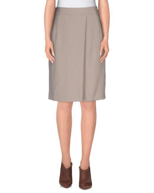Armani - Natural Knee Length Skirt - Lyst
