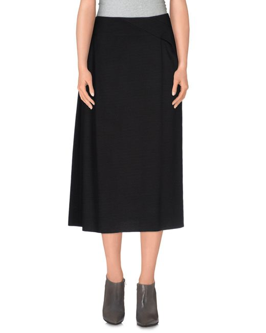 Jil Sander - Black 3/4 Length Skirt - Lyst