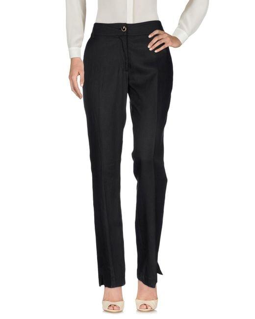 Class Roberto Cavalli Black Casual Pants