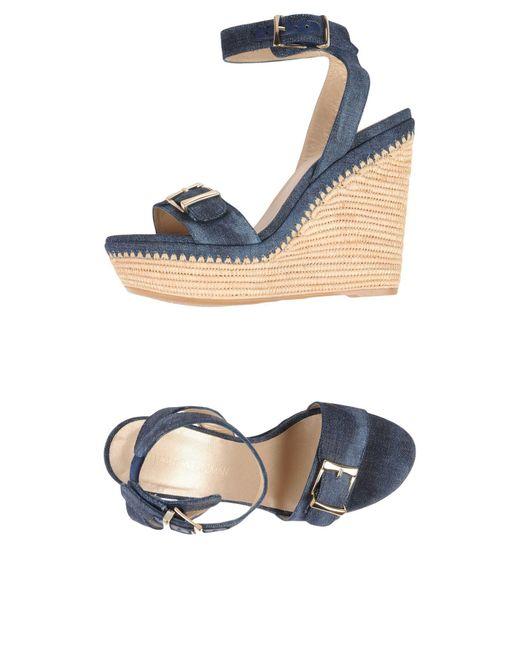 Stuart Weitzman - Blue Sandals - Lyst