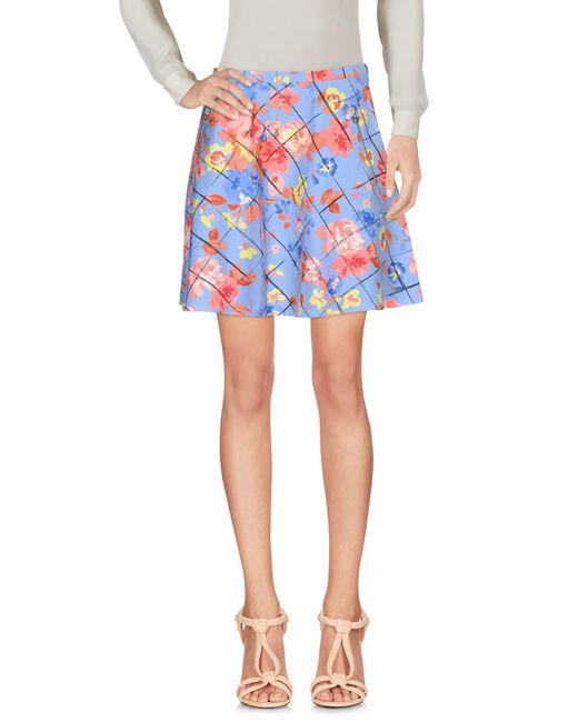 Liu Jo - Blue Knee Length Skirt - Lyst