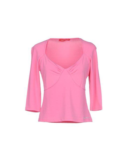 Angelo Marani - Pink T-shirt - Lyst