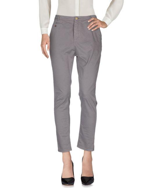 Manila Grace | Gray Casual Trouser | Lyst